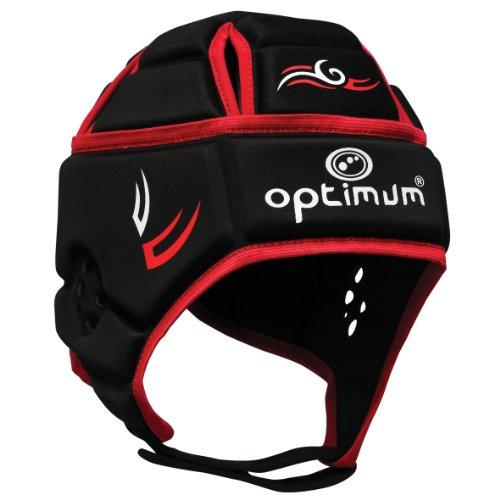Optimum, Protezione per la testa Uomo Hedweb Classic Tribal, Nero (schwarz/rot), (Classic Fit Rugby)