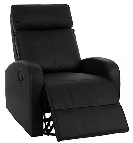 PEGANE Chaise de Salon Coloris Noir en Polyuréthane - Dim : H 100 x L 75 x P 96 cm