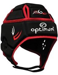 Optimum Hedweb - Protección de casco de rugby para hombre, tamaño M, color negro