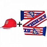 Atletico Madrid Soccer Crest Scarf & Baseball Cap Gift Set