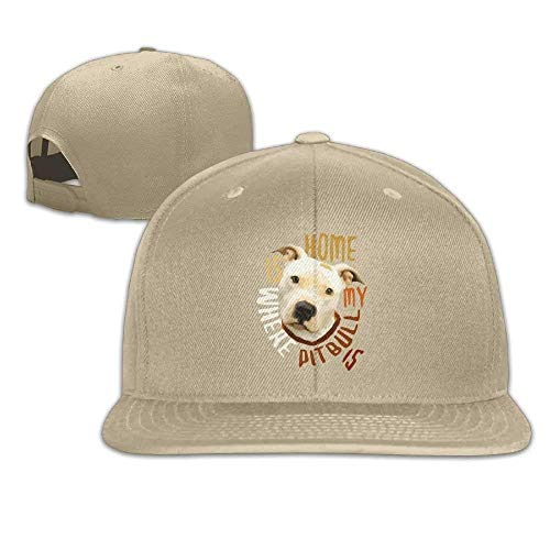 Home is Where My Pitbull Fitted falt Hat Adjustable Baseball Cap - Notre-dame-fitted Cap