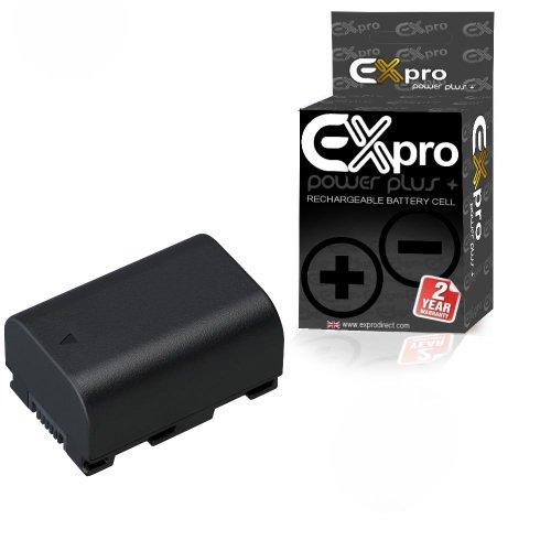 Ex-Pro High Power Plus+ - Batería de ion de litio para cámara digital JVC BN-VG114EU/BN-VG114E/BN-VG114/BNVG114 (3,6 V, 1400 mAh)