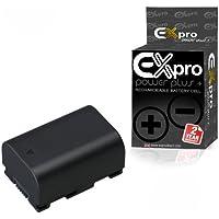 Ex-Pro High Power Plus+ Batterie lithium-ion de remplacement pour caméscope JVC BN-VG114EU/BN-VG114E/BN-VG114/BNVG114 1400mAh 3,6V