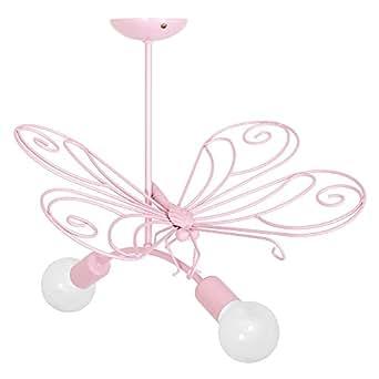 MOTYL II / Papillon ROSE CLAIR La chambre des enfants Plafonniers Lustres