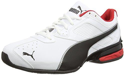 Puma Tazon 6, Hombre zapatillas de running, White/Black/Puma Silver, 4