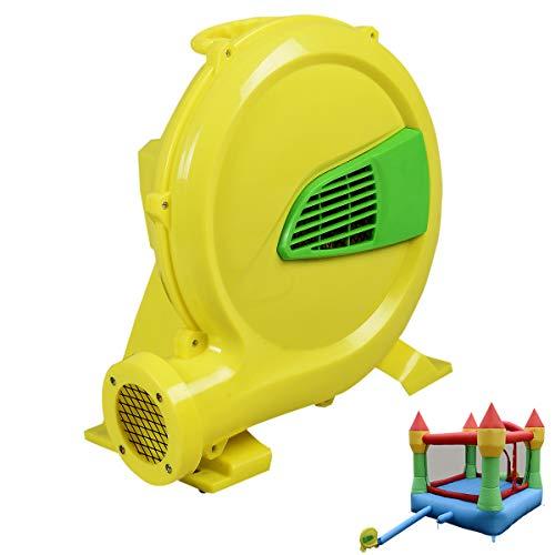 COSTWAY Pompe Air Electrique Pompe Gonflable de Ventilateur d'Air avec Moteur pour Château Gonflable 480 W/380 W Jaune (480 W)