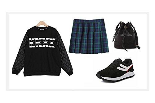 ALUK- Printemps et automne chaussures de sport version coréenne des étudiants transpirable chaussures de course léger réseau ( couleur : Noir , taille : 39 ) Noir