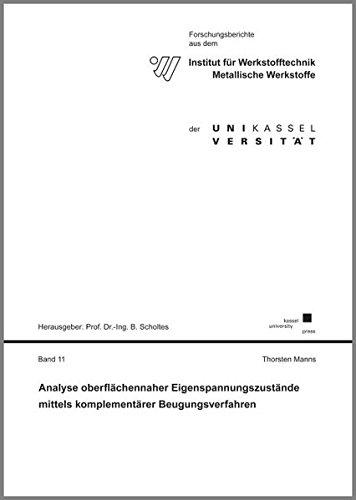 Analyse oberflächennaher Eigenspannungszustände mittels komplementärer Beugungsverfahren (Forschungsberichte aus dem Institut für Werkstofftechnik, Metallische Werkstoffe der Universität Kassel) -