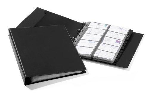 Durable 244401 Visitenkartenringbuch Visifix A4 Economy, für 400 Visitenkarten, schwarz