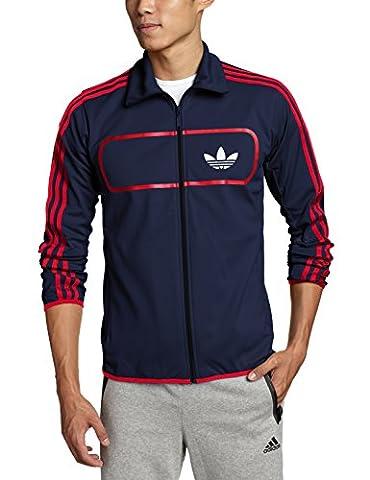 Adidas Street Diver TT Jacke Men (F78091) blau, Größe:S (Adidas Firebird Jacke Blau)