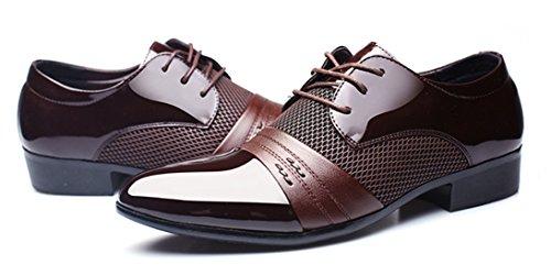DADAWEN Homme Automne Classique Commercial Leather Chaussure Brun