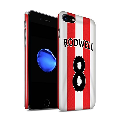 Offiziell Sunderland AFC Hülle / Glanz Snap-On Case für Apple iPhone 7 / Brown Muster / SAFC Trikot Home 15/16 Kollektion Rodwell