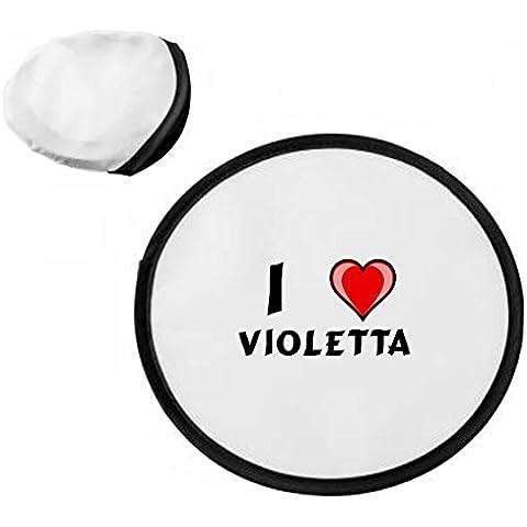 Disco volador personalizado (frisbee) con Amo Violetta (nombre de pila/apellido/apodo)