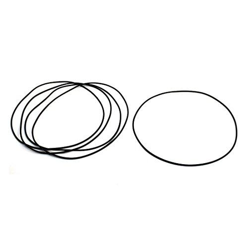 O-Ring, 140 mm Außendurchmesser, 2 mm Dicke, schwarz, Gummiring, Ölversiegelungsring, 5 Stück -