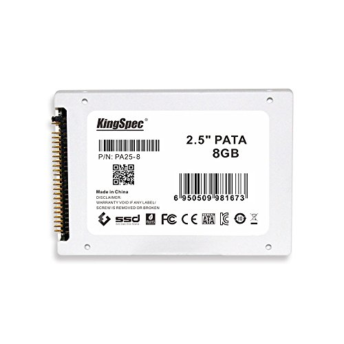 KingSpec PATA (IDE) 6,3 cm 6,3 cm MLC Digital SSD Solid State Drive für PC Laptop Notebook 8 GB
