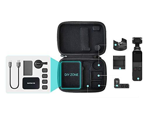 Rantow DIY Zone Wasserdichte Hartschalentasche kompatibel mit DJI Osmo Pocket Handheld Gimbal Kamera Tragbare Aufbewahrungsbox Tasche Handtasche