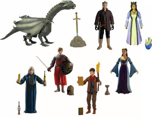 Die Abenteuer von Merlin Action Figures - KOMPLETTE EINST AUS SIEBEN (7) -