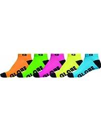 Globe GB71229027 Lot de 5 paires de chaussettes assorties pour homme Couleurs fluo
