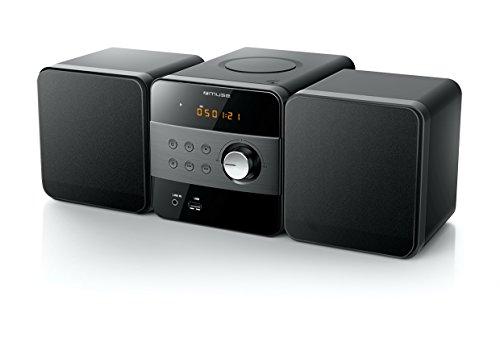 Muse M-57 BT Micro System Anlage (CD/MP3/USB/Bluetooth/Equalizer/AUX-In/Fernbedienung) schwarz 57 Micro Mini
