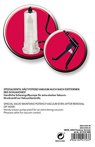 ORION Penispumpe – Vakuumpumpe mit handlichem Scherengriff für extra starkes Potenz-Vakuum, Stimulation und Training gleichzeitig - 7