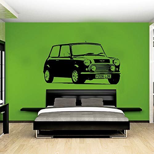 jiuyaomai wasserdichte Hohe Qualität Große Auto Mini Auto Aufkleber Schlafzimmer Wandaufkleber Kunst Wohnkultur Vinyl Aufkleber Wohnzimmer Tapeten 42x80 cm