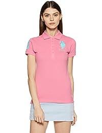 US Polo Women's Band Collar T-Shirt
