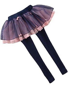 Legging Per 2-12 Anni Ragazze - Pantaloni Bambini Con Mini Tutu Vestito Cotone Legging Gonne Lunga Bambini Primavera...