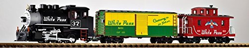 PIKO G SCALE MODEL TRAINS - WP&Y FREIGHT STARTER SET (120V) - 38106 by Piko
