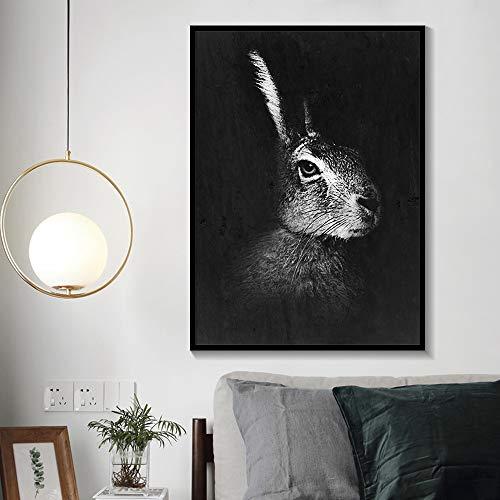 RTCKF Cute Rabbit Print Forest Animal Poster Nursery