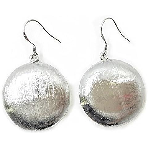 NYKKOLA Fashion New Jewelry Classic pendente rotondo orecchini donna placcato argento Sterling 925