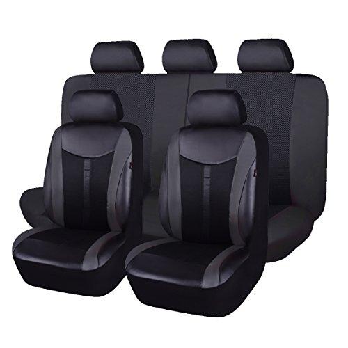 Flying Banner pelle e mesh traspirante universale set di coprisedili per auto con airbag compatib