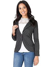 KRISP Damen Blazer Jacke aus Weichem Stoff oder im Wildleder Stil