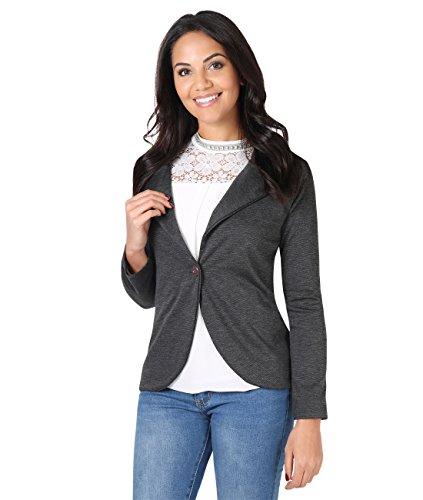 KRISP Smart Casual Stoff Fashion Blazer (Anthrazit, Gr.46) (3558-CHA-18)