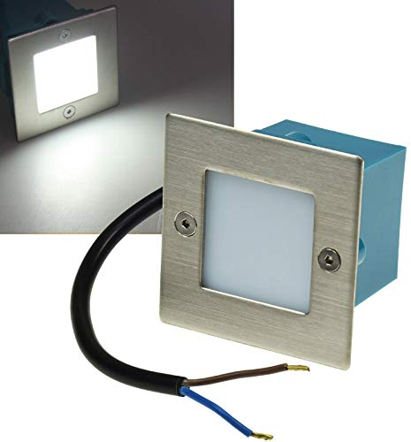 ChiliTec - Foco de pared led, acero, 230 V, 1,5 W, IP54,...