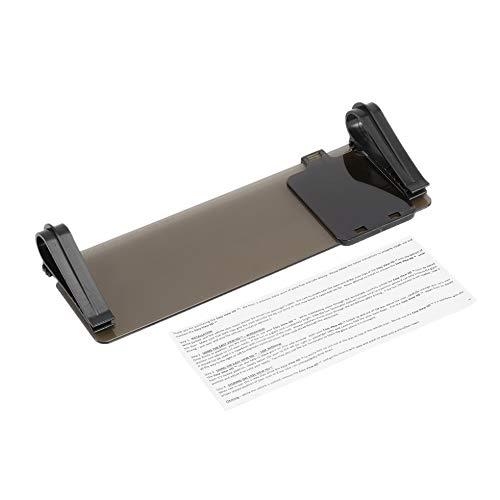 HD Clear View Vision Tag & Nacht Sonnenblende Anti-Glare UV-Blocker Fold Flip Down grau (Tag Und Nacht Visier)