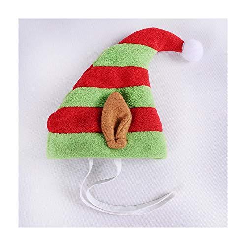 TKHCOLDM Weihnachtsdekoration Liefert für Haustiere Plüsch Hund Weihnachten Bär Weihnachtsmütze Geburtstag Party Crossover Hut 5 stücke-14X16cmR1