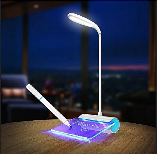 Tischleuchte Schreibtischlampe Leselampe Fluoreszierende Message Board An Der Lampe Bei Rotary Nachttisch, Lampe - Keramik-message Board