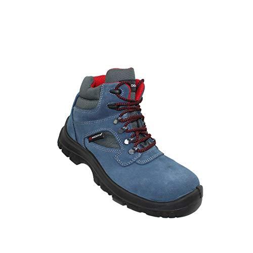 Modyf Scarpe Formula Alta S1P SRC di Sicurezza funzionano Scarpe Scarpe Professionali Scarpe Commerciali Scarpe da Trekking di Alta Blu, Dimensione:39 EU