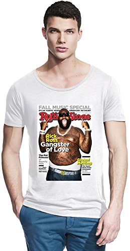 Rick Ross Rolling Stone Cover Bamboo Wide Neck T-shirt X-Large -