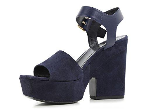 Sandales à plateforme Céline en daim Bleu foncé - Code modèle: 317773SPZC 07NY Bleu foncé