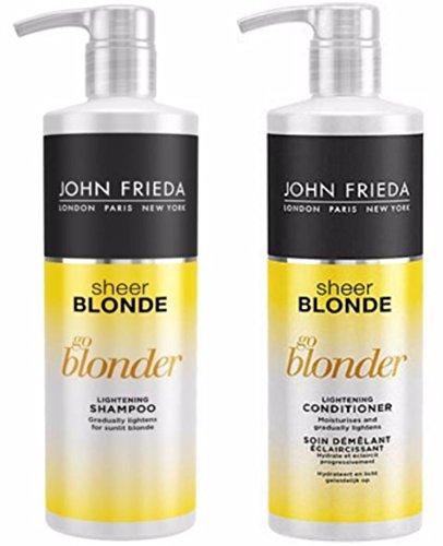 Duo Sheer (John Frieda Sheer Blonde Go Blonder Lightening Shampoo 500ml & CONDITIONER 500ml Duo Pack)