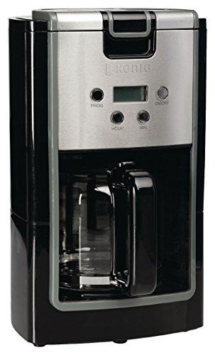 Edel - König 12 Tassen Kaffeemaschine Edelstahl + schwarz . Tolle Kaffee Maschine für Filterkaffee...