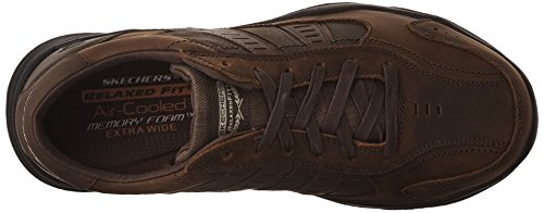 Skechers Larson Nerick, Baskets Basses Homme Marron