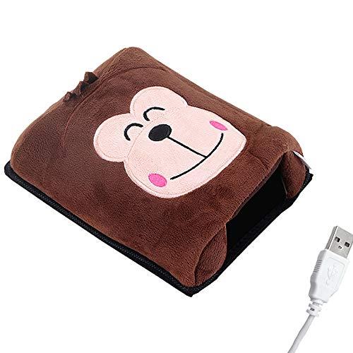 Yanhtso usb scaldamani mouse pad riscaldamento riscaldamento pad inverno caldo guanti cartoon carino computer da ufficio polso caldo pad mouse pad (forma : c)