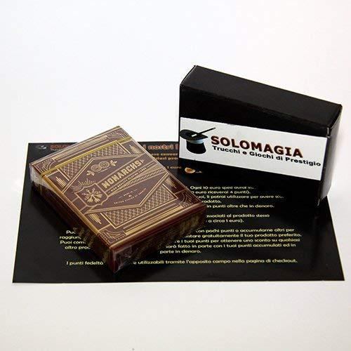Monarchs Playing Cards Red   Rot, Theory11, mit Goldfolie, Luxury Playing Cards, Luxus-Poker-Spielkarten, Q1-Qualität, Signature Premium 909 Finish, FSC-zertifiziertes Papier aus verantwortungsvoller Waldwirtschaft