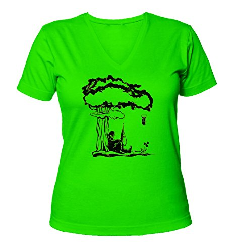 surreal-nuclear-explosion-tree-womens-v-neck-t-shirt-xx-large