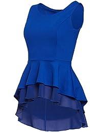 Laeticia Dreams - Blusa con volantes para mujer, tallas: S, M, L y XL