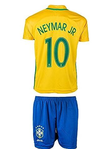 Brasilien #10 NEYMAR 2016/17 Heim Kinder Trikot und Hose (104)