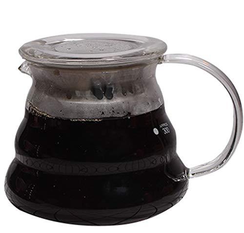 YQQ-Cafetière Carafe avec poignée Facile à Verser, retient et distribue jusqu'à 6 Tasses de café Chaud. À Utiliser avec du thé au café Attendre