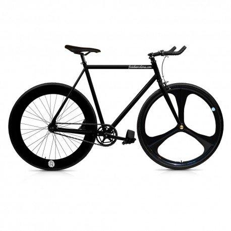 Bicicletta Fix 3 nera, monomarcia, a scatto fisso/single speed, taglia 56